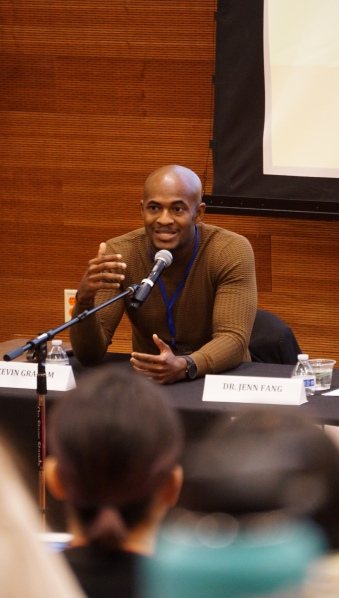 Kevin Graham, who researches the undocumented immigrant experience at UC San Diego, speaks on a panel discussing the role of students in activism at the Students of Color Conference on February 1, 2020. Photo by Saanika Joshi