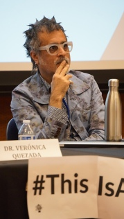 Writing and rhetoric professor Aneil Rallin listens to other panelists. A panel of Soka University professors as well as a former professor and current Chicanx healer spoke about the problems with institutions and academia on February 1, 2020. Photo by Saanika Joshi
